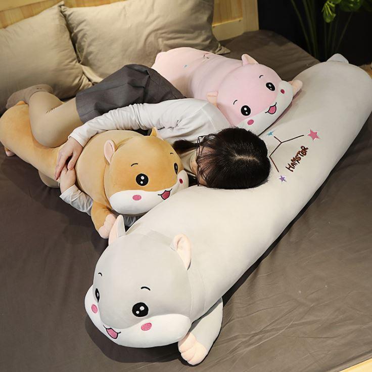gấu bông dài ôm ngủ chuột hamster