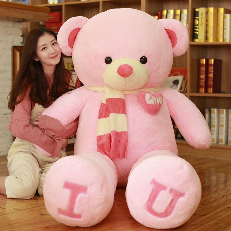 Gấu Bông Teddy I Love U Khăn Quàng Cổ
