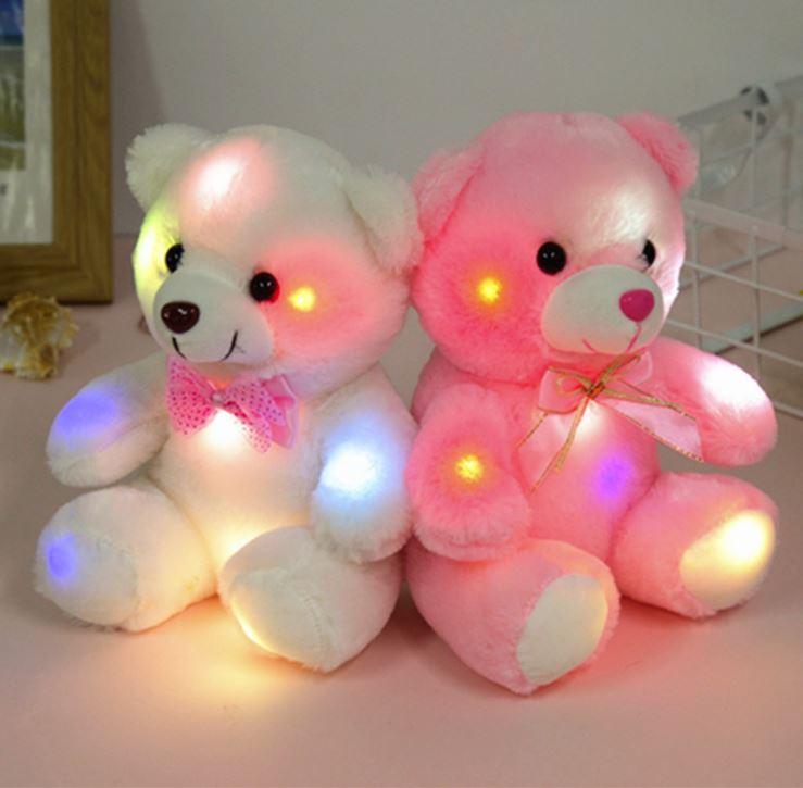 Hình ảnh 4 gấu bông phát sáng Teddy Thắt Nơ