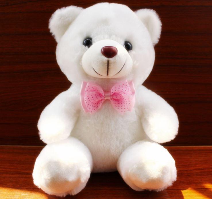 Hình ảnh 2 gấu bông phát sáng Teddy Thắt Nơ