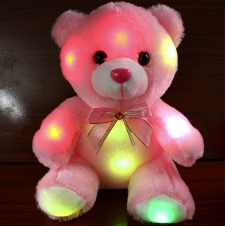 Hình ảnh 1 gấu bông phát sáng Teddy Thắt Nơ